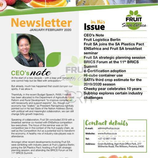 Fruit SA Newsletter (January/February 2020)