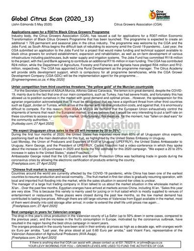 CGA - Global Citrus Scan 13/2020 (05/05/20)