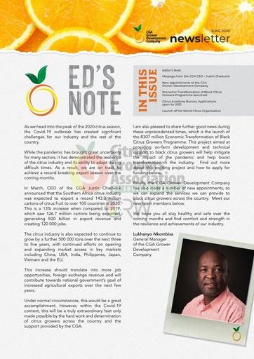 CGA-GDC Newsletter (June 2020)
