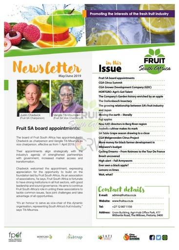 Fruit SA Newsletter (May/June 2019)