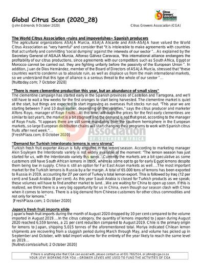CGA - Global Citrus Scan 28/2020 (09/10/20)