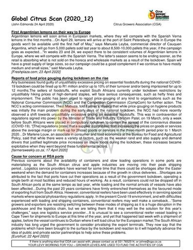 CGA - Global Citrus Scan 12/2020 (24/04/20)