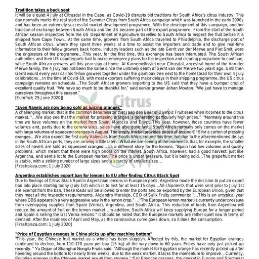 CGA - Global Citrus Scan 19/2020 (02/07/20)
