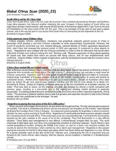 CGA - Global Citrus Scan 23/2020 (07/08/20)