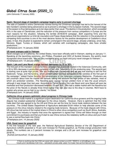 CGA - Global Citrus Scan 01/2020 (17/01/20)