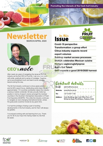 Fruit SA Newsletter (March/April 2020)