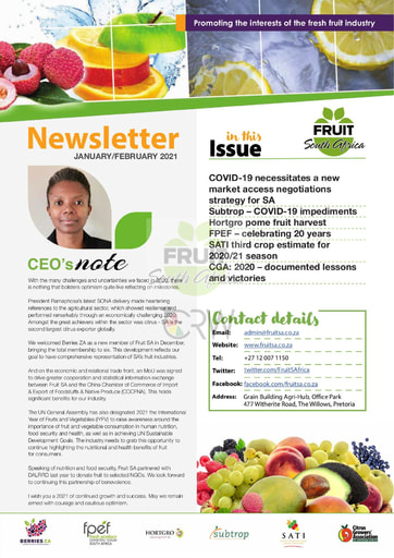 Fruit SA Newsletter (January/February 2021)