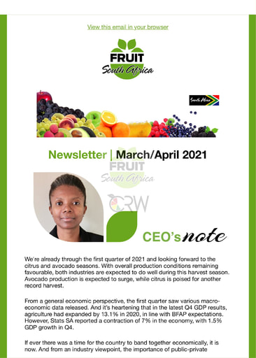 Fruit SA Newsletter (March 2021)