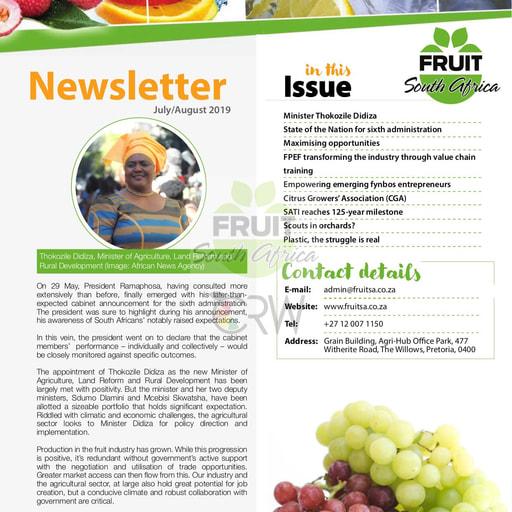Fruit SA Newsletter (July/August 2019)